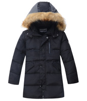 2013 child down coat male child medium-long thickening big boy children's clothing