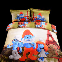 4pcs Christmas 3D bedding set queen hot selling bed set best gift for kids comforter set bed cover