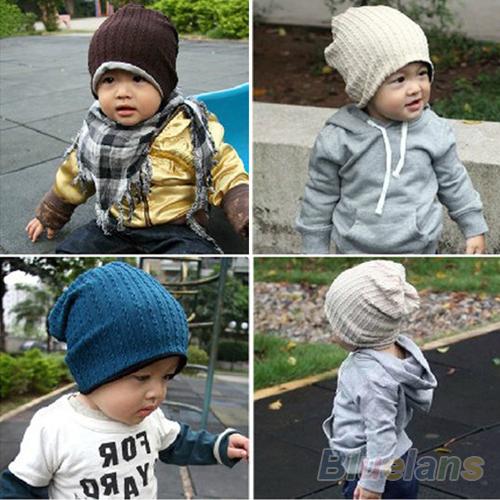 5 Colors Baby Kids Infant Toddler Beanie Hat Warm Winter Boys Girls Cap Children Accessories 00F9(China (Mainland))