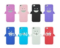 200pcs/lot Free shipping Angel Design Silicone Case Back Cover Skin for Apple iphone 5 5S 5G