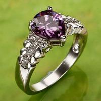 Pear Cut Silver Ring Size 7 8 9 10 R1-00358