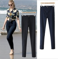 HKpost2013 women vintage American Apparel high waist easy jeans pencil Stretch Denim acid wash snowflakes pants botton plus size
