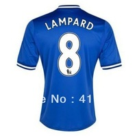 New!FA Premier League13/14,Support Customize Name Number,Chelsea #8 Frank Lampard short sleeve home away kit,free shipping