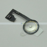 500pcs/Lot 100% Original Replacement Home Button Flex Cable for iPhone 4s by DHL