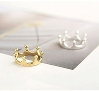 G025 Min.order is $8 (mix order)Free Shipping! Wholesales!Christmas Gifts  Crown Finger Ring Gold Plated Cute Bow Ring!