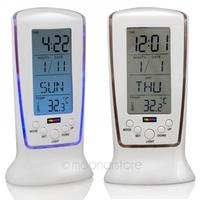 LED Backlight Square Digital Alarm Clock Multi-function Music Calendar Thermometer Clock Free Shipping LDA0937#M2