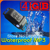 4GB IPX8 waterproof MP3 Player best for Swimming or diving Black/White/Blue/Pink colors Free Shipping