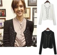 Korea Fashion Beautiful Lady Women Long Sleeve Shrug Jacket blazer WC149 FY