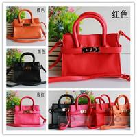 Retail 1pcs Girls Fashion Handbag Kids Bags Cute Lady Style Classic Design Birk Bag Kid Handbag Children Accessory