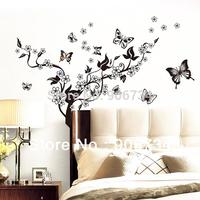 Wholesale Butterfly Flowers Tree Wall Sticker Decor Vinyl Art Wall Mural Decal Sticker