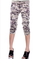 Free shipping women's casual fashion camouflage Breasted 100% cotton harem pants female casual all match long cotton Trousers