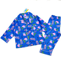 Wholesale New 2013 Winter Children Clothing Pajamas for Boys Clothes Set Peppa Pig Dinosaur Boy Clothing Sets Kids Pajama Sets