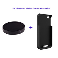 High Quality Wireless Charger Qi Power Charger Pad+Wireless Charger Receiver Card for Iphone 4/4S