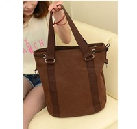 FLYING BIRDS !New arrive pu leather retro fashion Canvas shopping satchel handbag bucket bag LS0701