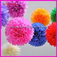 Free Shipping 10pcs 20cm(8inch) Tissue Paper Pom Poms Wedding Party Decor Craft Paper Flowers Wedding