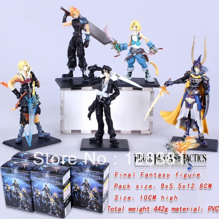Final Fantasy Figure(price for 5 pcs a set)/Final Fantasy popular Figure /Free Shipping(China (Mainland))