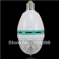Factory direct hot sale 3W RGB LED Mini home Party Light Dance Lamp Holiday Light Auto Rotating E27 full color Bulbs for dancing