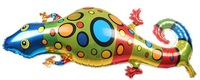 44X98cm High Quality Fashion Multicolor Gecko Animal Aluminum Balloons Birthday Party Decorations Inflatables 15Pcs/Lot