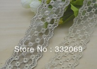 10 X DIY Gold Thread Lace Trims Embroidery Mesh Embroidered Sewing Craft for Decoration Hot Promotion Free Ship