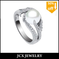 2014 new arrival big pearl ring designs