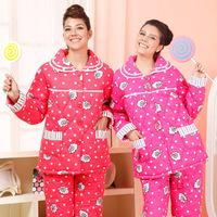 American standard lounge women's woven rayon cotton-padded long-sleeve 36111 sleep set