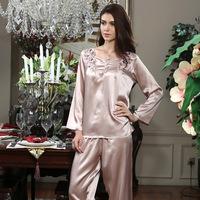 American standard lounge autumn and winter women's pure silk mulberry silk noble long-sleeve 220121 sleep set