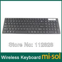 Free Shipping 1 PCS of 2.4GHz wireless English keyboard, for Windows ME/NT/2000/XP/Vista/Windows 7