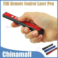 New Arrival USB Wireless Remote Control Presentation Presenter Laser Pointer PPT Pen 3MW Free Shipping & Drop Shipping