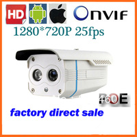 Wholesale 1.0Megapixel cctv camera Bullet IP Camera Network IP Camera Array led 1280*720P have night vision
