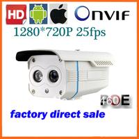 Wholesale 1.0Megapixel cctv camera Bullet IP Camera Network IP Camera Array led 1280*720P have night vision