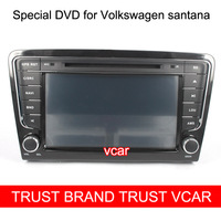 Free Gifts + Free Shipping HD 8 Inch Special Car DVD Player for Volkswagen Santana with GPS Function