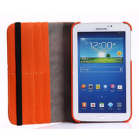 Jean Pattern Stand 360 Degree Rotating Multifuction Leather Case for Samsung Galaxy Tab 3 7.0 with Card Pocket