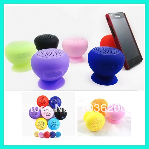 Colorful Suck Wireless Bluetooth 3.0 Speaker Micro USB Mashroom Cute Portable audio player(China (Mainland))