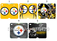 2014 free shipping Hot Newest arrival 5pcs/lots wholesale steelers logo PU leather card foldable case  for iphone 4 4G 4S