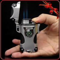Free Shippin New Ultra Thin Super Small Colorful Metal Slim Smoking Pipe Cigarette Cigar Butane Gas Lighter/Glossy black