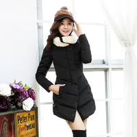 Winter thicken wadded outerwear for women 2013 Korean medium-long women's fashion cotton-padded jacket  free shipping