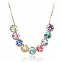 Wholesale women 18K Gold white gold plated austriSZ crystal necklace make with swarovski elements 1171 SZ