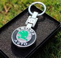Demond Crystal Metal Key Chain Key Rings For Skoda Octavia,Yeti,Citigo,Rapid Accessories