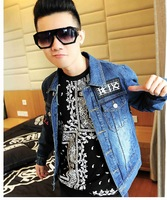 TRUEBLING original, casual fashion, personality patterns Slim washed denim short jackets, coats, discounts, free shipping