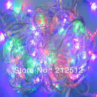 Free Shipping Outdoor Lighting 220v 10M Chrismas Decoration With 8 Display Modes Multicolour 100 Led String Light With Tail Plug