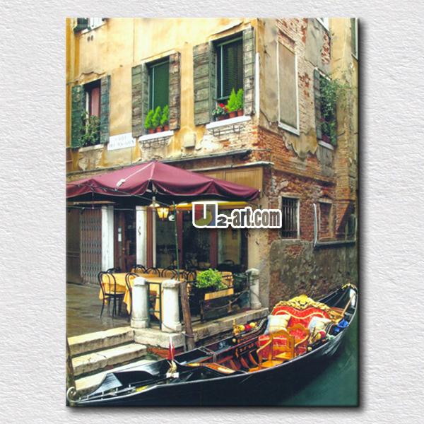 Wholesale photo picture of itilian cityscape painting canvas prints modern art for home - Home decoration wholesale paint ...