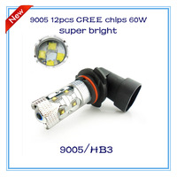 2014 newest arrive super bright high quality products HB3 9005 60W 12pcs cree chips led fog lamp auto headlight accessories DRL