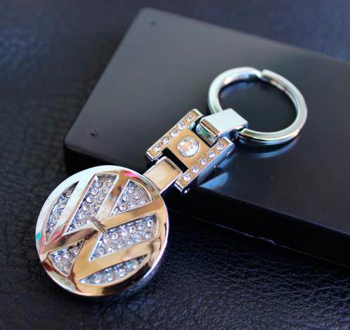 Demond Metal Key Chain Rings For Volkswagen Polo,Passat,Tiguan,Golf,Jetta,Touareg,R-Line,CC GTI MK6 Accessories(China (Mainland))