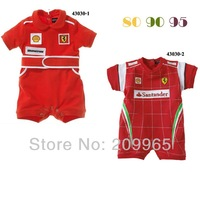 3pcs/lot Wholesale Red Race Baby Boy Rompers Newborn Overall Bebe Jumpsuit for Summer 2014 Infant Clothes Children Clothing Wear