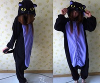 New Adult Cartoon  Animal Onesie The Midnight Cat Kigurumi Cosplay Costume Pajamas