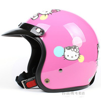 Fashion Halley EVO half capacete,women's electric bicycle Open face helmets,Pink Hello Kitty Motorcycle helmet with goggles