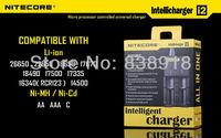 NITECORE Intellicharger i2 Li-ion/Ni-MH/Ni-Cd Universal Battery Charger 2 slots for 18650 26650 AA AAA 14500 + Retail Package