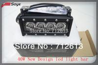 2014 NeW design 6 inch 40w 3320lm offroad led light bar 4x4 led lights ip67