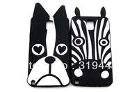 Cute Animal Black Dog Love Eye Zebra Silicone Back Case For Samsung Galaxy Note3 N9000