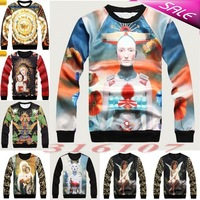[YNM]Factory Tops 2014 Italian Style women men virgin Mary print pullover 3D T Shirts Sweatshirts Hoodies Galaxy sweaters Tops